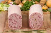 Galantine persillée, galantine de poitrine de porc farcie