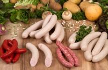 Assortiment grillade : véritable merguez, saucisse blanche à griller paysanne supérieure, chipolata supérieure, saucisse blanche à griller fine supérieure